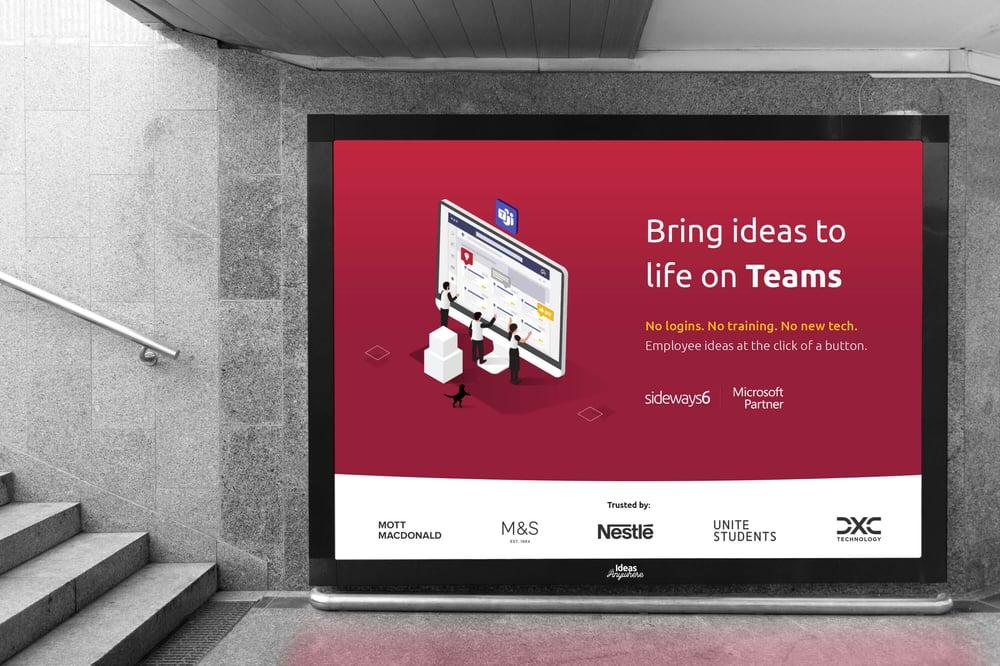 Sideways 6 and Microsoft Teams - Tube Advert